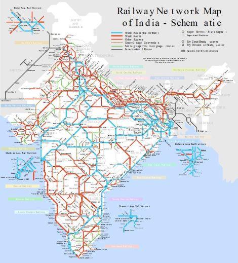 red-ferroviaria-India
