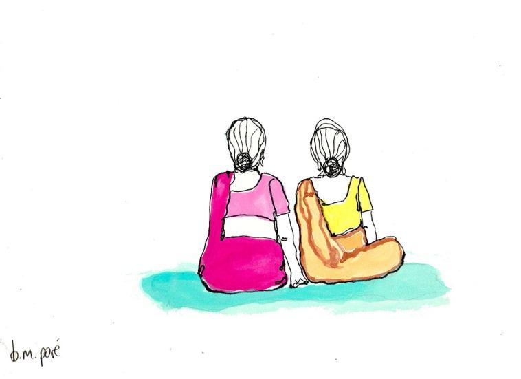 Dibujo India - Mujeres