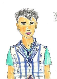 Dibujo Myanmar - Joven 1