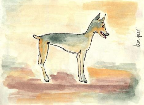 Dibujo Myanmar - Perra