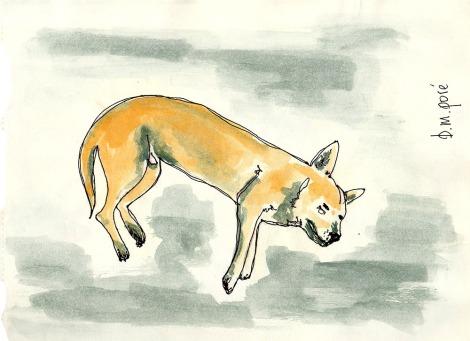 Dibujo Myanmar - Perro